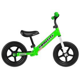 Беговел 12' GRAFFITI Runner, цвет зелёный Ош