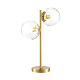 Настольная лампа BLAIR 2x60Вт E14 латунь