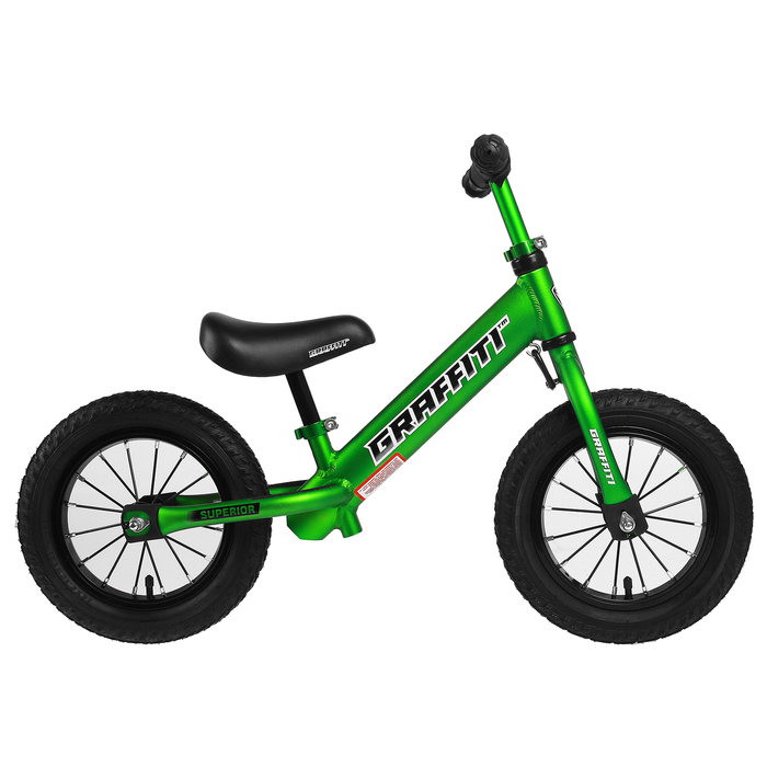 "Беговел 12"" GRAFFITI Superior 2019, цвет зелёный"
