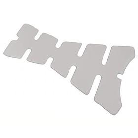 Накладка на бак SKULL 134х223 mm, длинная, прозрачная, PW 319-642 Ош