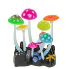 Флуоресцентная аквариумная декорация Gloxy, грибы, тип Н, 11х8х12 см