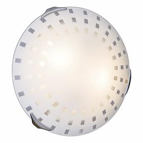 Светильник QUADRO WHITE 2x100Вт E27 хром, белый
