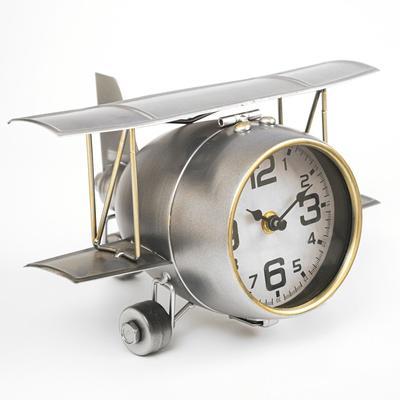 """Часы настольные, серия: Транспорт, """"Самолёт с двойными крыльями"""", 26.5х15х19.5"""