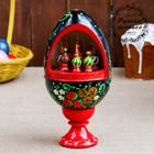 Сувенир музыкальный «Яйцо с храмами», 25 см, чёрный