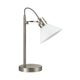 Настольная лампа EFFI 1x40Вт E14 никель