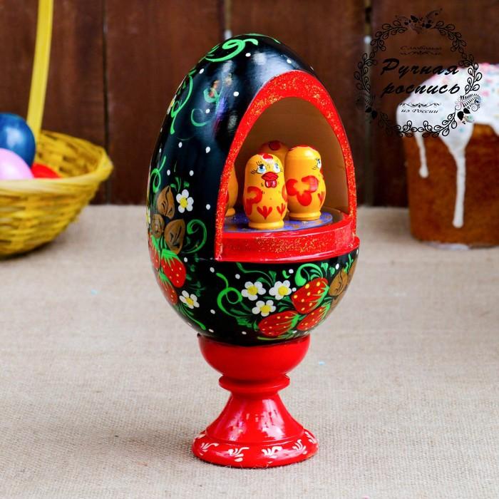 Сувенир музыкальный «Яйцо», 25 см, чёрный