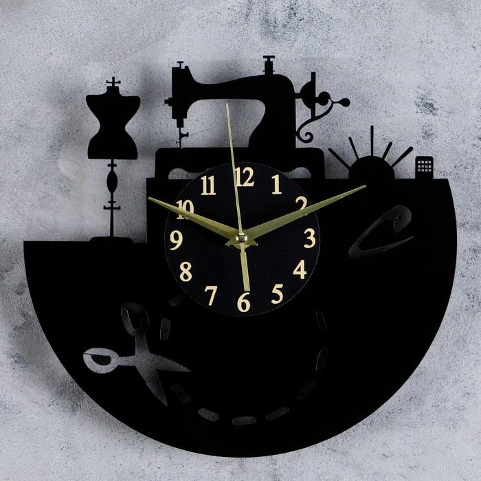 """Часы настенные, серия: Интерьер, """"Покрой"""", круглые, акриловые, 30х30 см"""
