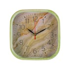 Wall clock, series: Classic, Onyx, square, 22x22 cm