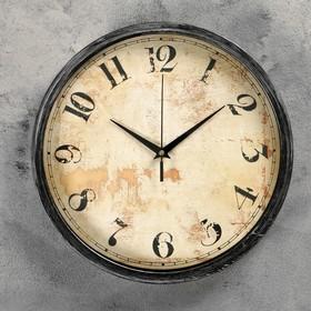 """Часы настенные, серия: Интерьер, """"Древесный спил"""", d=30 см, арабские цифры, микс"""
