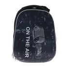 Рюкзак каркасный LeonВergo MidiWrap №1 38x30x17 см, Song, синий/чёрный