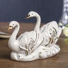 """Сувенир """"Белые лебеди в камышах"""" 11,5х9х4,5 см"""