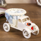 "Basket decorative ""Truck with eyes"" blue 9х16х8,5 cm"