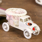 "Basket decorative ""Truck eyes"" pink 9х16х8,5 cm"