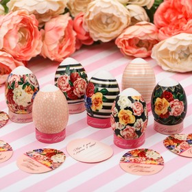 """Easter Set to decorate eggs """"Floral pattern"""", 9 x 16 cm"""