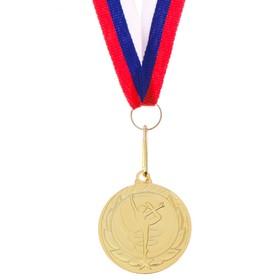 Медаль тематическая «Гимнастика», золото, d=4 см