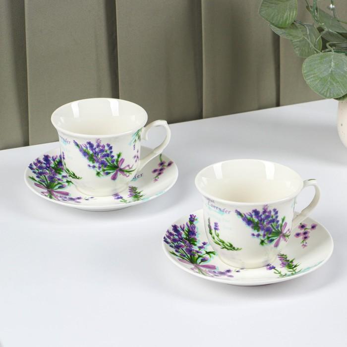 Tea set, 4 pieces: 2 cups 220 ml, 2 saucers
