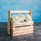"""Кашпо деревянное 20×11×9 см """"Бавария"""", с ручкой, экзотик - фото 823079"""