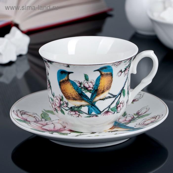 """Чайная пара """"Соловей"""" чашка 220 мл, блюдце"""