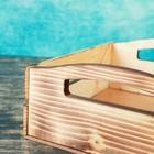 """Набор кашпо деревянных подарочных """"Эталон"""", 2 в 1, ручки вырезы боковые, экзотик - фото 7430835"""