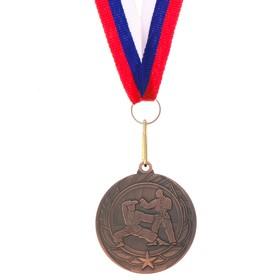 Медаль тематическая «Карате», бронза, d=4 см