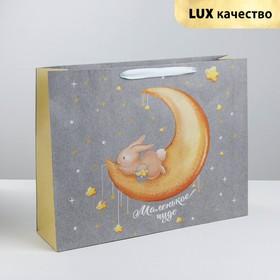 Пакет крафтовый горизонтальный «Маленькому чуду», MS 23 × 18 × 10 см