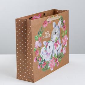 Пакет крафтовый горизонтальный 'Милой и нежной', M 30 x 26 x 11.5 см (комплект из 6 шт.)