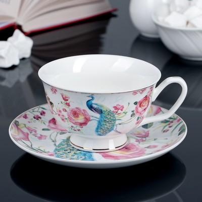 Чайная пара Нептун: чашка 250 мл, блюдце 16 см