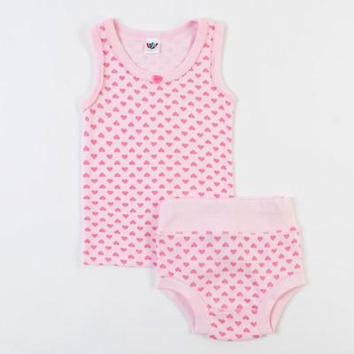 Комплект для девочки, рост 68 см (44), цвет светло-розовый