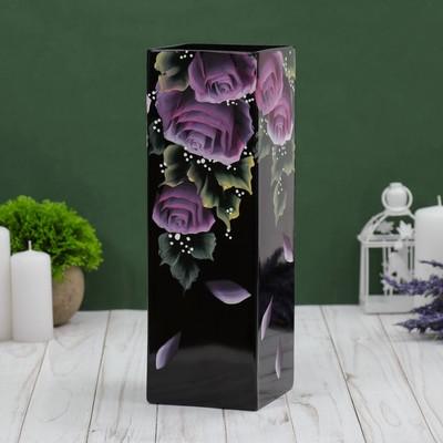 """Ваза """" Розовые цветы"""" 30 х11 см"""