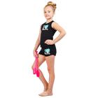 Майка-борцовка гимнастическая I Love Gymnastics, цвет чёрный, размер 28