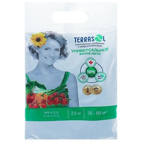 Удобрение Террасол минеральное Весна-Лето тукосмесь с микроэлементами, 2,5 кг