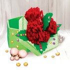 Набор для создания шкатулки из фетра «Цветы», с объемными элементами - фото 691616