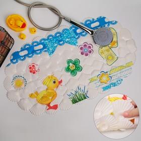 Коврик для ванны Доляна «Утёнок», 38×68 см