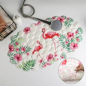 Коврик для ванны «Фламинго», 38×68 см