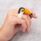 "Set to create a ring out of polymer clay ""Toucan"""