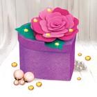 Набор для создания шкатулки из фетра «Роза», с объемными элементами - фото 691621