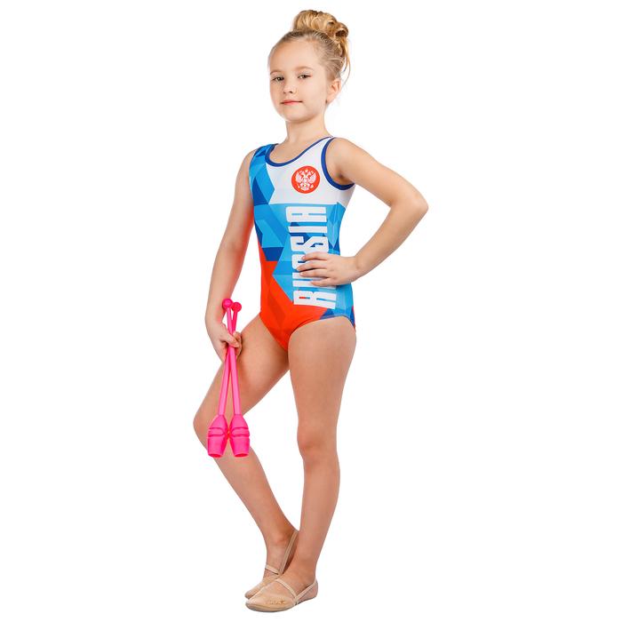 Купальник для спортивной гимнастики Russia, размер 30