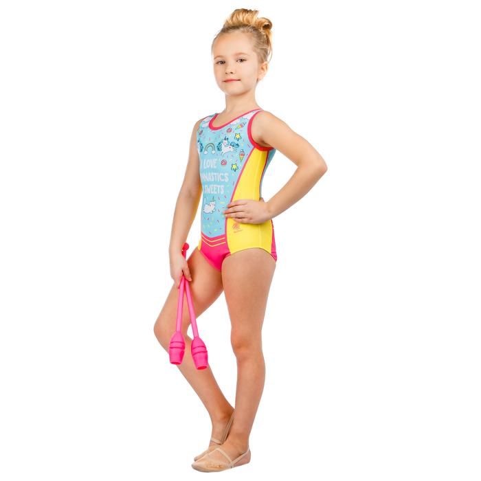 Купальник для спортивной гимнастики Love Gymnastics, размер 28