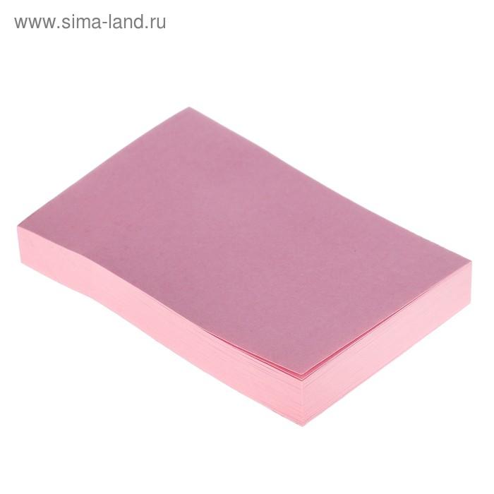 Блок с липким краем LeonВergo 51x76 мм, 100 листов, 75 г/м2, пастельный, розовый