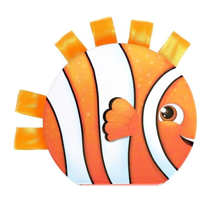 Книжка тактильная с ленточками «Кто живёт в море», 10 стр. - фото 971849