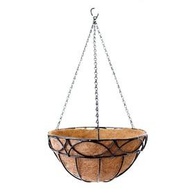 Кашпо подвесное «Сфера», d = 35 см, металл, с вкладышем из коковиты