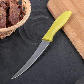 Нож кухонный «Ария», зубчатое лезвие 12 см, цвет МИКС