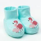 "Пинетки ""Фламинго"", голубой, рост 68-74 см"