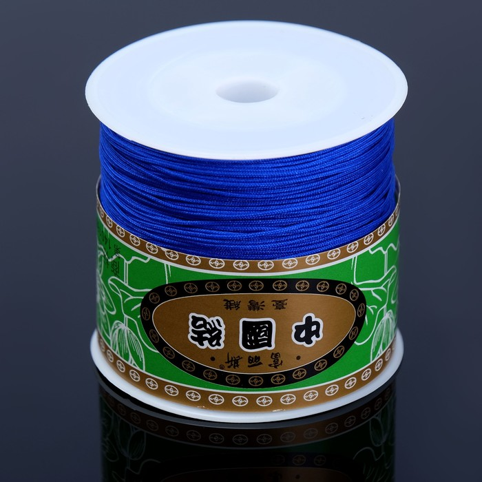 "Шнур на бабине ""ШАМБАЛА"" длина 100м, толщина 0,8мм, цвет ярко-синий"