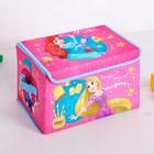 """Корзина для игрушек """"Волшебный сундучок"""", Принцессы, 37 х 24 х 24 см"""