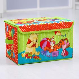 """Корзина для игрушек """"Давай играть!"""", Медвежонок Винни и его друзья, 37 х 24 х 24 см"""