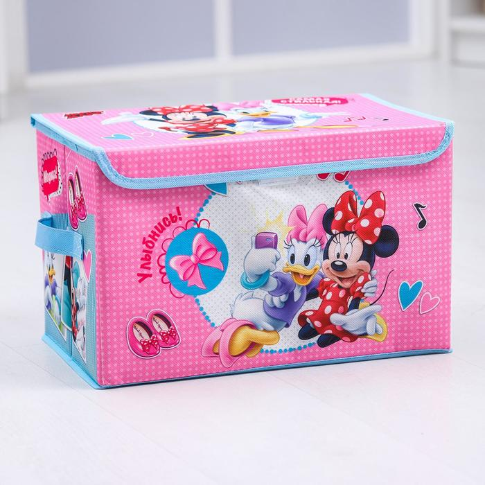 """Коробка для хранения игрушек """"Самая стильная"""", Минни Маус, 37 х 24 х 24 см"""