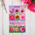 """Наклейки пасхальные """"Цветы. Розовые"""" с глиттером"""
