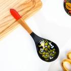 Ложка «Чернушка», салатная, 6×21, хохлома