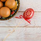Пасхальный Сувенир на палочке «ХВ» (орнамент), 6 х 21 см
